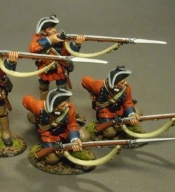 4 Line Infantry Skirmishing Set #1, 60th (Royal American), Regiment of Foot