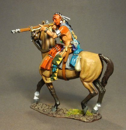 Mounted Woodland Indian, Firing Musket #2