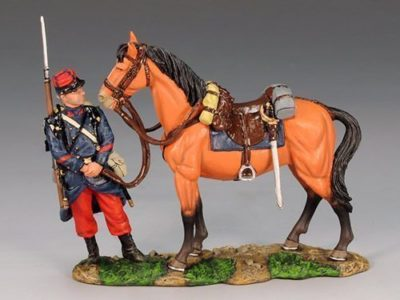Poilu attending to a General's Horse
