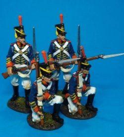 4 Marines At The Ready - US Marine Corps 1814