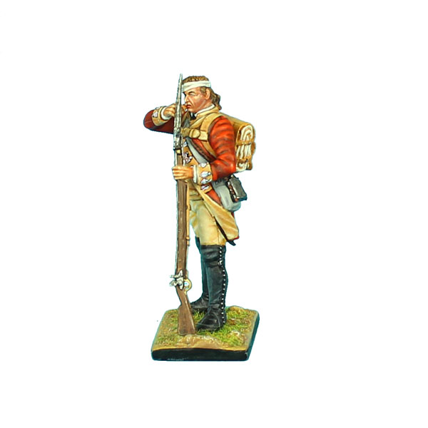 British 22nd Foot Standing Loading - Bandaged Head