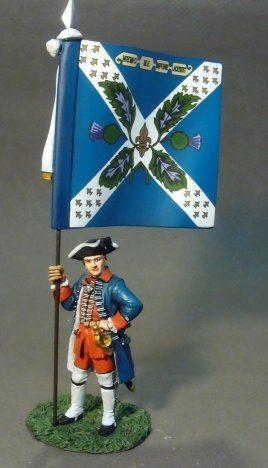 Regiment Royal Ecossois, Officer with Regimental Colours