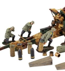 1916-18 German 210mm Howitzer and 5 Man Crew with Accessories